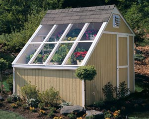 Greenhouse Solar Shed
